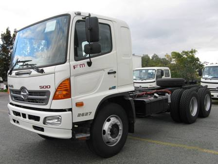 New Hino FD 2627 Cab Chassis